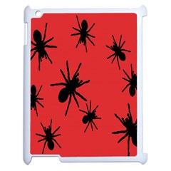 Illustration With Spiders Apple Ipad 2 Case (white) by Nexatart
