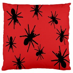 Illustration With Spiders Large Cushion Case (one Side) by Nexatart