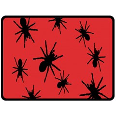 Illustration With Spiders Double Sided Fleece Blanket (large)  by Nexatart
