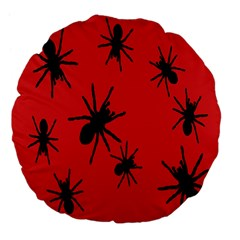 Illustration With Spiders Large 18  Premium Flano Round Cushions by Nexatart