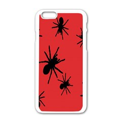 Illustration With Spiders Apple Iphone 6/6s White Enamel Case by Nexatart