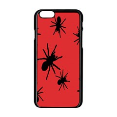 Illustration With Spiders Apple Iphone 6/6s Black Enamel Case by Nexatart