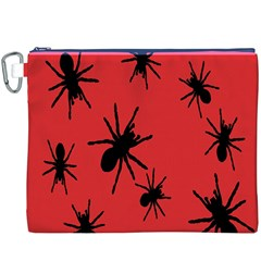 Illustration With Spiders Canvas Cosmetic Bag (xxxl) by Nexatart