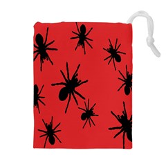 Illustration With Spiders Drawstring Pouches (extra Large) by Nexatart