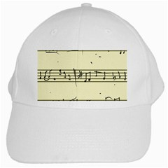 Music Notes On A Color Background White Cap by Nexatart
