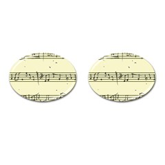 Music Notes On A Color Background Cufflinks (oval) by Nexatart