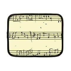 Music Notes On A Color Background Netbook Case (small)  by Nexatart