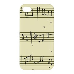 Music Notes On A Color Background Apple Iphone 4/4s Premium Hardshell Case by Nexatart