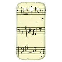 Music Notes On A Color Background Samsung Galaxy S3 S Iii Classic Hardshell Back Case by Nexatart
