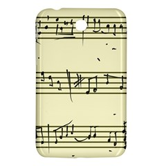 Music Notes On A Color Background Samsung Galaxy Tab 3 (7 ) P3200 Hardshell Case  by Nexatart