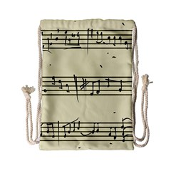Music Notes On A Color Background Drawstring Bag (small) by Nexatart