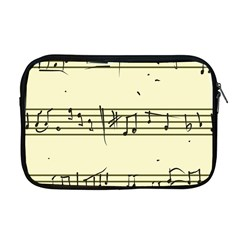 Music Notes On A Color Background Apple MacBook Pro 17  Zipper Case
