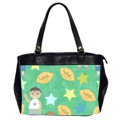 Football Kids Children Pattern Office Handbags (2 Sides)  by Nexatart