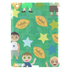 Football Kids Children Pattern Apple iPad 3/4 Hardshell Case (Compatible with Smart Cover)