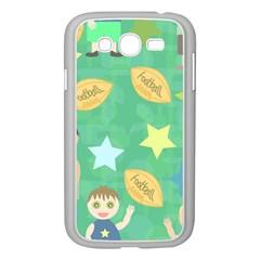 Football Kids Children Pattern Samsung Galaxy Grand Duos I9082 Case (white) by Nexatart