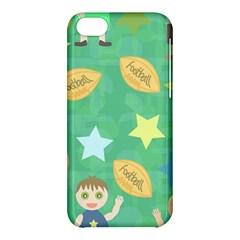Football Kids Children Pattern Apple Iphone 5c Hardshell Case by Nexatart