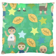 Football Kids Children Pattern Standard Flano Cushion Case (one Side) by Nexatart