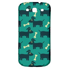 Happy Dogs Animals Pattern Samsung Galaxy S3 S Iii Classic Hardshell Back Case by Nexatart