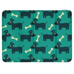 Happy Dogs Animals Pattern Samsung Galaxy Tab 7  P1000 Flip Case by Nexatart