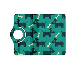 Happy Dogs Animals Pattern Kindle Fire Hd (2013) Flip 360 Case by Nexatart