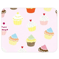 Seamless Cupcakes Wallpaper Pattern Background Double Sided Flano Blanket (medium)  by Nexatart