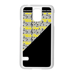 Note Abstract Paintwork Samsung Galaxy S5 Case (White) by Nexatart