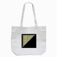 Note Abstract Paintwork Tote Bag (white) by Nexatart
