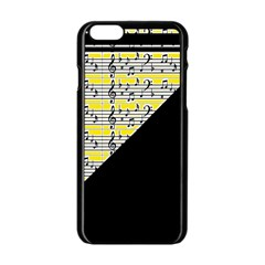 Note Abstract Paintwork Apple Iphone 6/6s Black Enamel Case by Nexatart