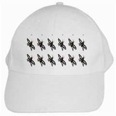 Insect Animals Pattern White Cap by Nexatart