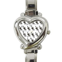 Insect Animals Pattern Heart Italian Charm Watch by Nexatart