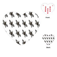 Insect Animals Pattern Playing Cards (heart)  by Nexatart