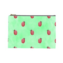 Pretty Background With A Ladybird Image Cosmetic Bag (large)  by Nexatart