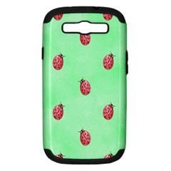 Pretty Background With A Ladybird Image Samsung Galaxy S Iii Hardshell Case (pc+silicone) by Nexatart