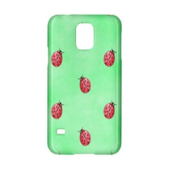 Pretty Background With A Ladybird Image Samsung Galaxy S5 Hardshell Case  by Nexatart