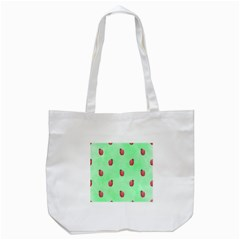 Pretty Background With A Ladybird Image Tote Bag (white) by Nexatart