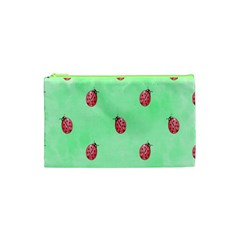 Pretty Background With A Ladybird Image Cosmetic Bag (xs) by Nexatart