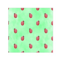 Pretty Background With A Ladybird Image Small Satin Scarf (square) by Nexatart