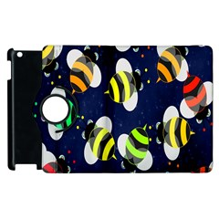 Bees Cartoon Bee Pattern Apple Ipad 3/4 Flip 360 Case by Nexatart