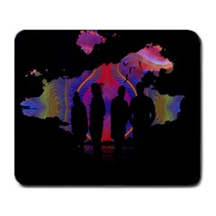 Abstract Surreal Sunset Large Mousepads by Nexatart