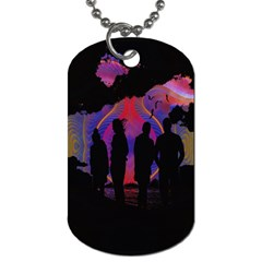 Abstract Surreal Sunset Dog Tag (one Side) by Nexatart