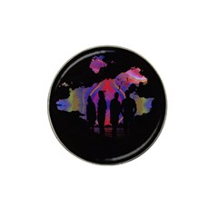 Abstract Surreal Sunset Hat Clip Ball Marker (4 Pack) by Nexatart
