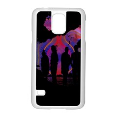 Abstract Surreal Sunset Samsung Galaxy S5 Case (white) by Nexatart