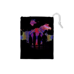 Abstract Surreal Sunset Drawstring Pouches (small)  by Nexatart