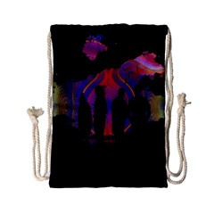 Abstract Surreal Sunset Drawstring Bag (small) by Nexatart