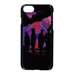 Abstract Surreal Sunset Apple Iphone 7 Seamless Case (black) by Nexatart