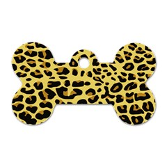 A Jaguar Fur Pattern Dog Tag Bone (two Sides) by Nexatart