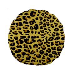 A Jaguar Fur Pattern Standard 15  Premium Round Cushions