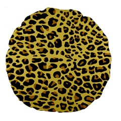 A Jaguar Fur Pattern Large 18  Premium Flano Round Cushions by Nexatart