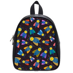 Bees Animal Insect Pattern School Bags (small)  by Nexatart