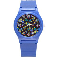 Bees Animal Insect Pattern Round Plastic Sport Watch (s) by Nexatart